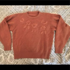 Vintage embroidered wool sweater